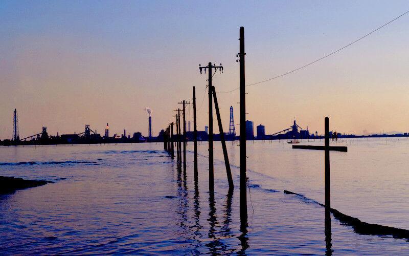 江川海岸をカメラ撮影